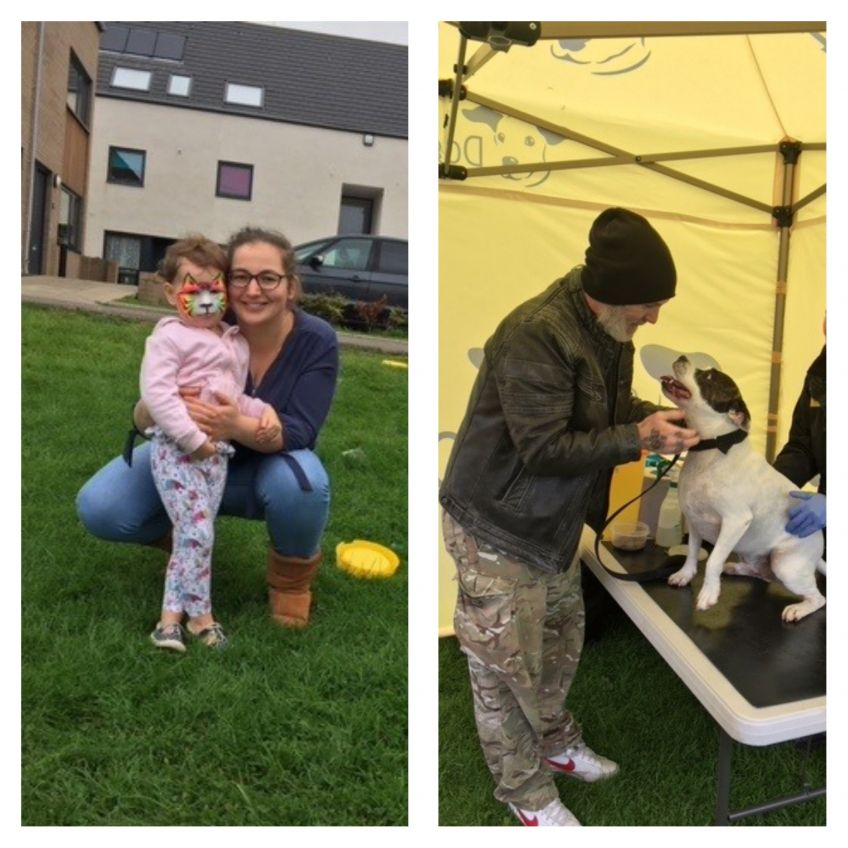 tenants get dogs chipped with Dogs Trust at Hallglen