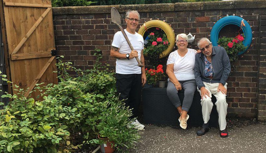 John McInally has created a stunning garden at Kippen Gate in Glasgow
