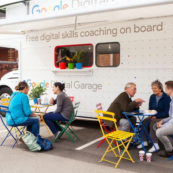 The Google Bus offers free help with getting online and making the most of the internet