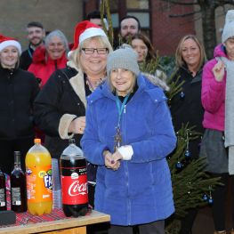 Loretto Housing and Loretto Care held a Christmas party at Quarrywood Avenue, Glasgow